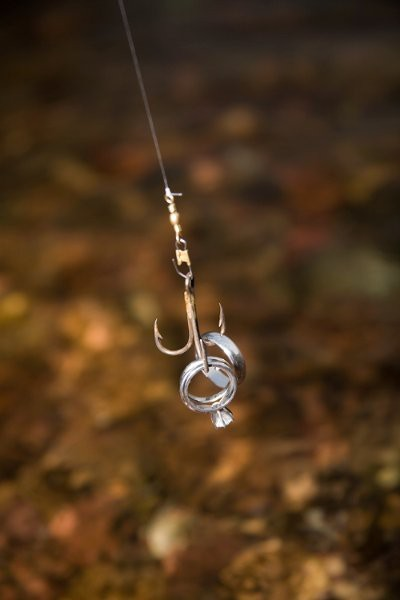 Blessed events fashioned by adrianne for Fish hook wedding band