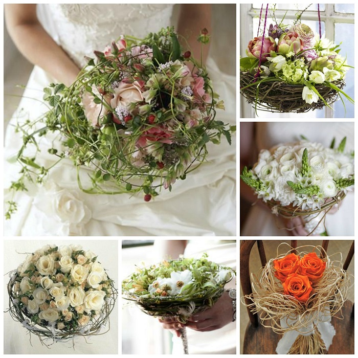 Birds Nest Wedding Bouquet